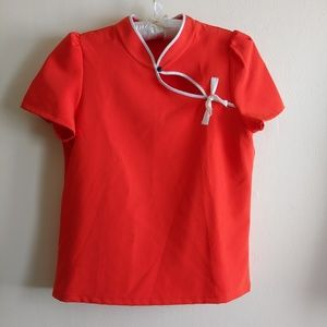 ZARA Top, Red Size S, Basic Collection